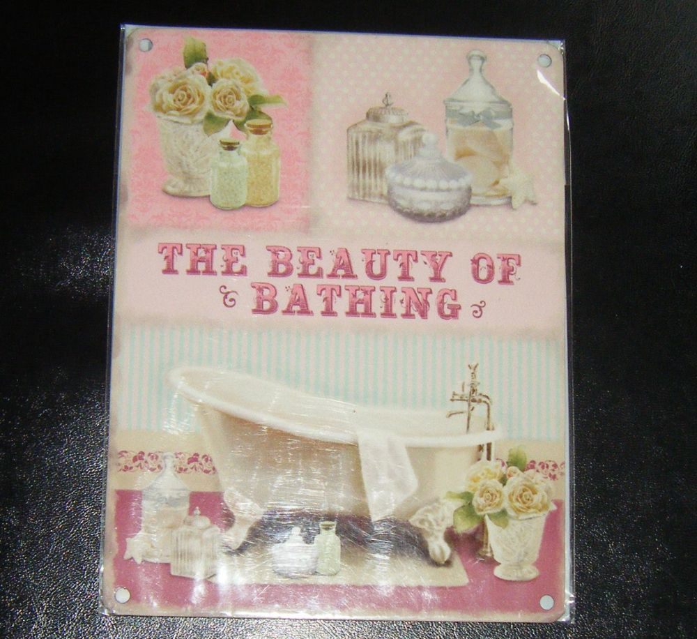 The Beauty Of Bathing Metal Wall Sign