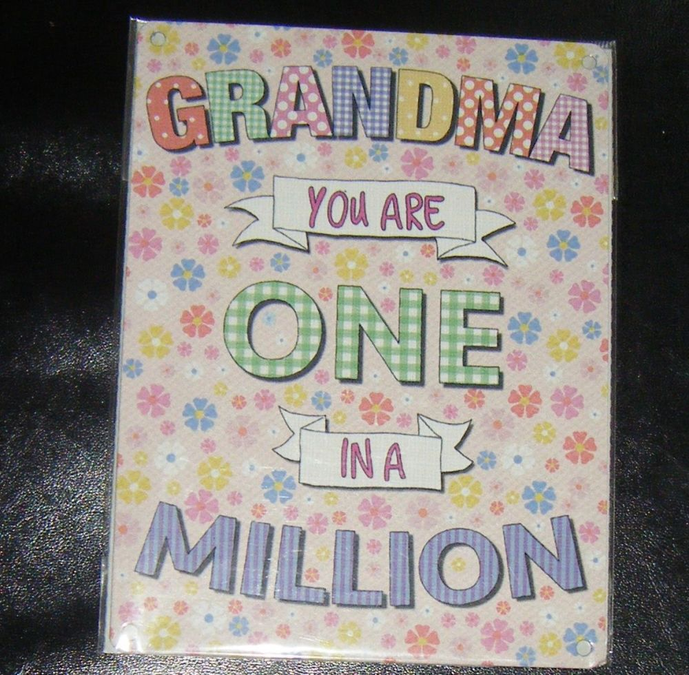 Grandma One In A Million Metal Wall Sign