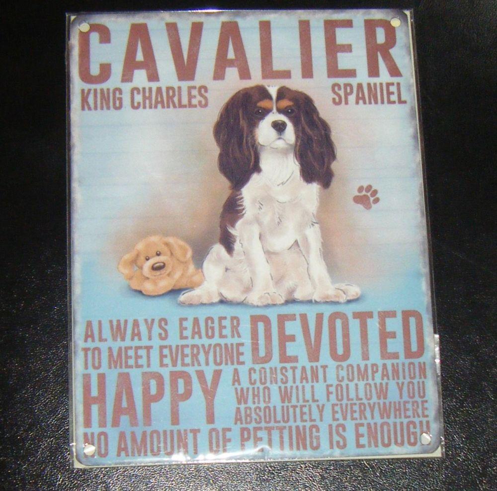 Cavalier King Charles Spaniel  - Dog Breed Metal Wall Sign