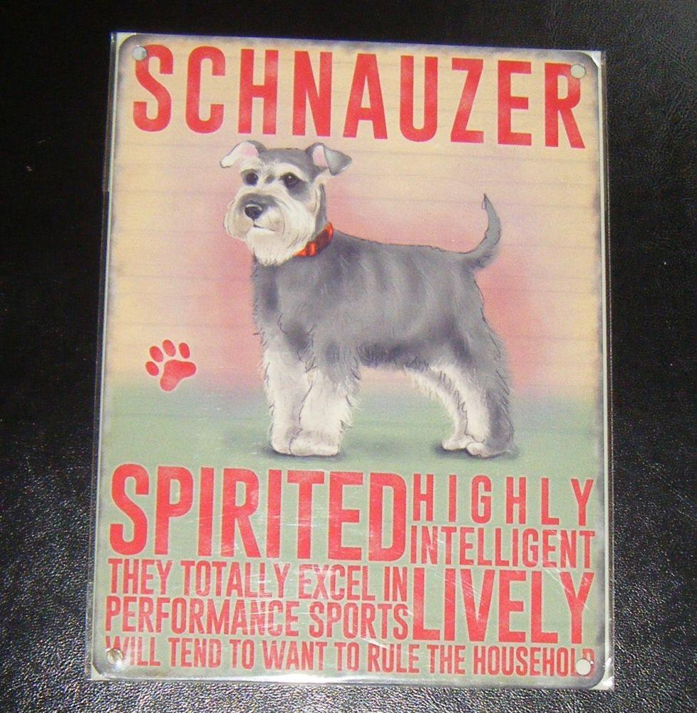 Schnauzer  - Dog Breed Metal Wall Sign
