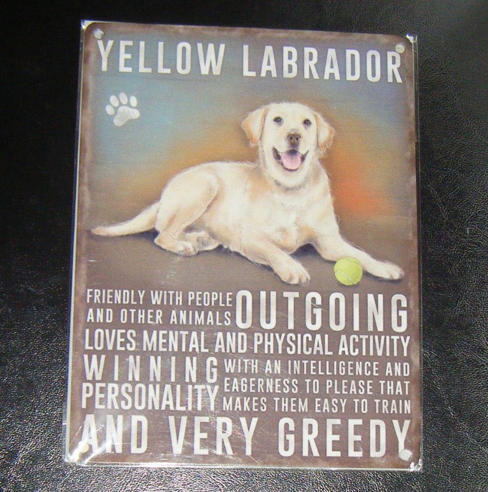 Yellow Labrador - Dog Breed Metal Wall Sign