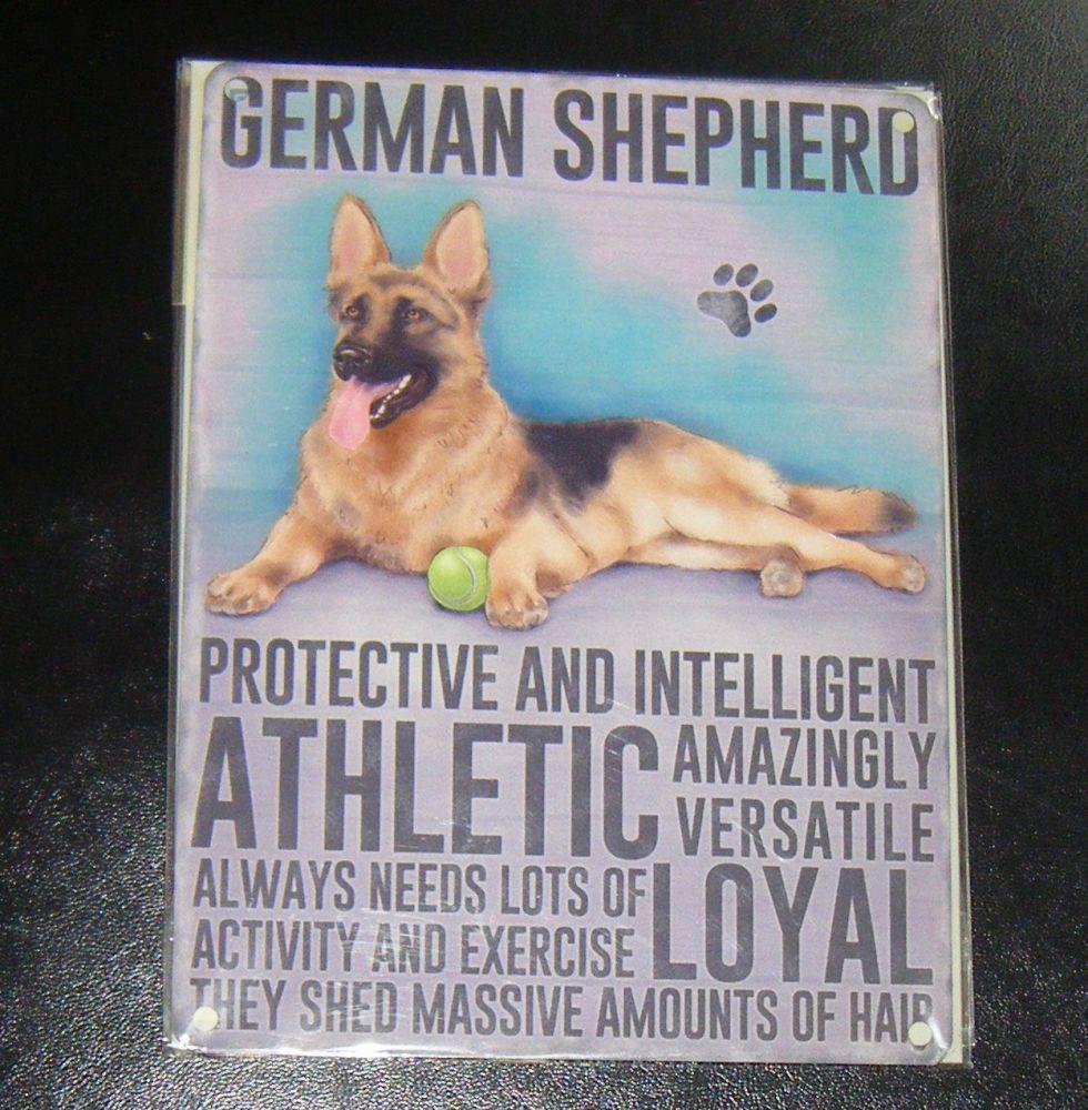 German Shepherd - Dog Breed Metal Wall Sign