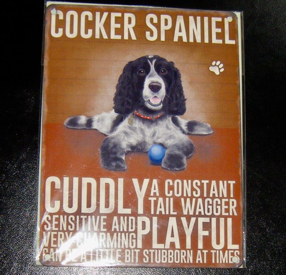 Cocker Spaniel - Dog Breed Metal Wall Sign