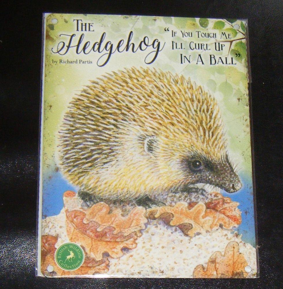 The Hedgehog  - Animal Metal Wall Sign