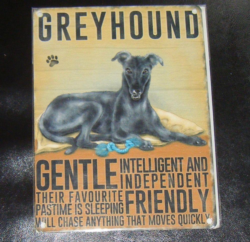 Greyhound - Dog Breed Metal Wall Sign