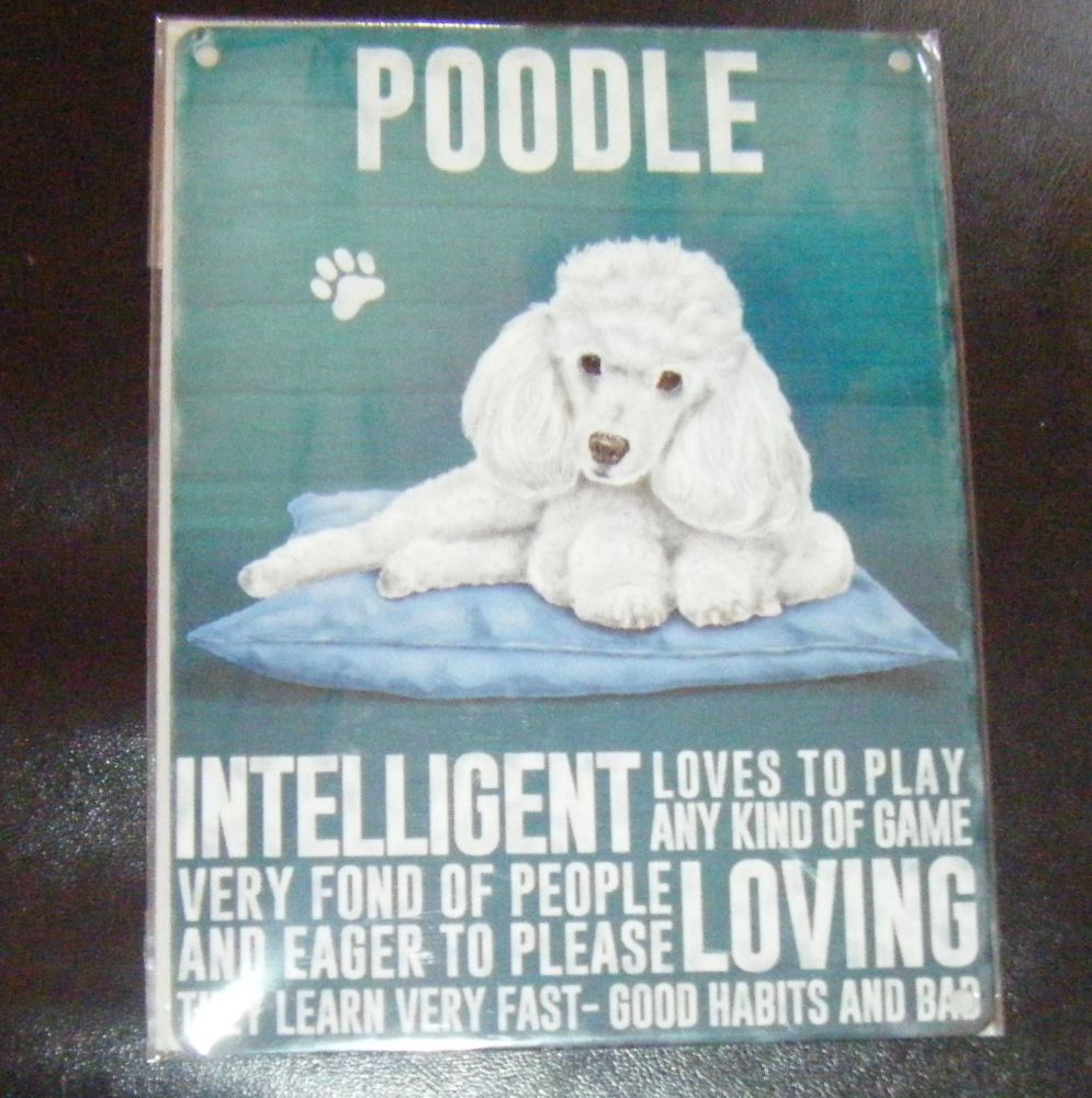 Poodle - Dog Breed Metal Wall Sign