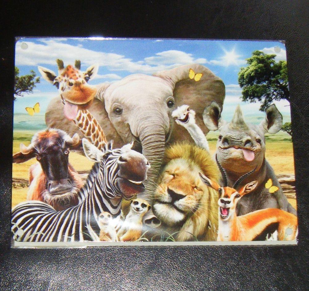 Funny African Animal Selfie Metal Wall Sign