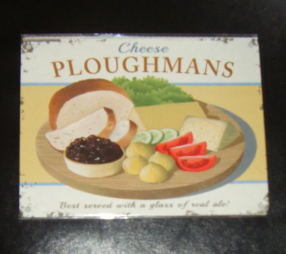 Ploughmans Cheese Metal Wall Sign