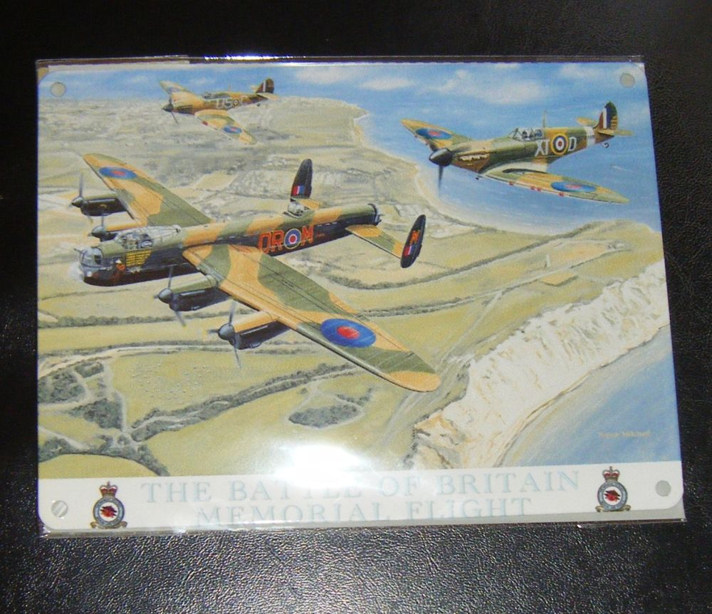Battle Of Britain Metal Wall Sign
