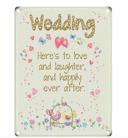 Wedding Fun Metal Wall Sign