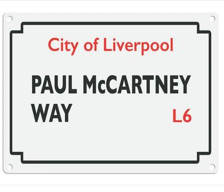 Beatles Street Sign - Paul McCartney Drive Metal Wall Sign