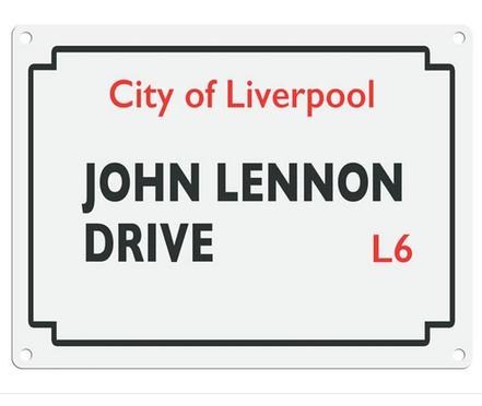Beatles Street Sign - John Lennon Drive  Metal Wall Sign