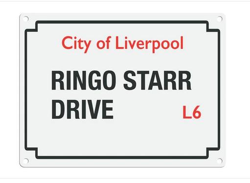 Beatles Street Sign - Ringo Starr Drive  Metal Wall Sign