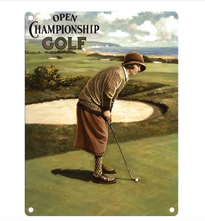 Open Championship Golf - Lady Metal Wall Sign