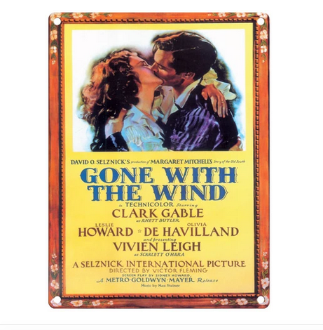 Gone With The Wind Movie Metal Wall Sign