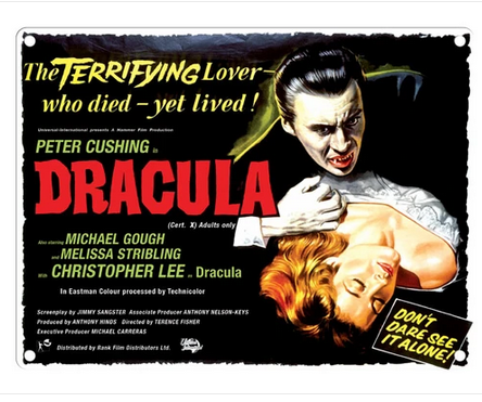 Dracula Movie Metal Wall Sign