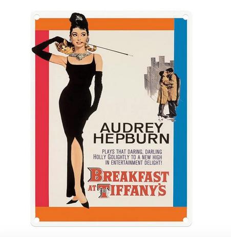 Audrey Hepburn - Breakfast At Tiffany's Metal Wall Sign