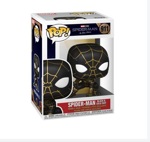 Spider-man Black Gold Suit - No Way Home - Funko Pop 911