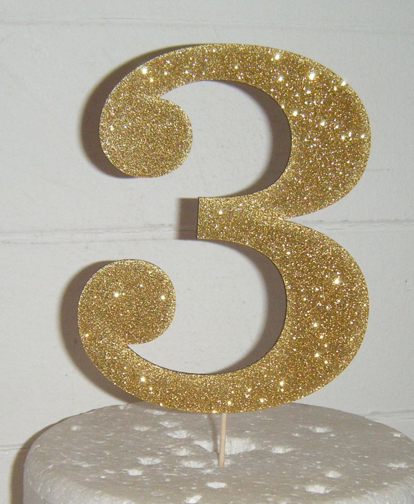 3 Cake Topper (Sold design Exactly as shown)