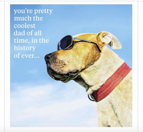 Coolest Dad Of All Time Greeting Card - Dog Greeting Card Blank Inside