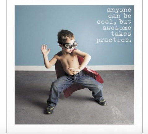 Awesome Takes Practice Greeting Card - Funny Greeting Card Blank Inside