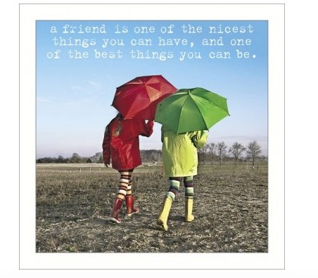 A Friend is the Best Greeting Card - Funny Greeting Card Blank Inside