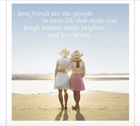 Best Friends Quote Greeting Card - Funny Greeting Card Blank Inside