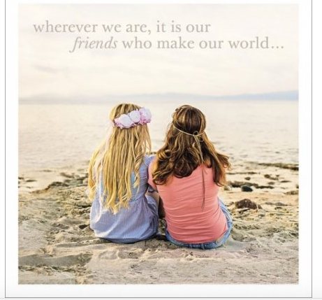 Friends Make Our World Greeting Card - Funny Greeting Card Blank Inside