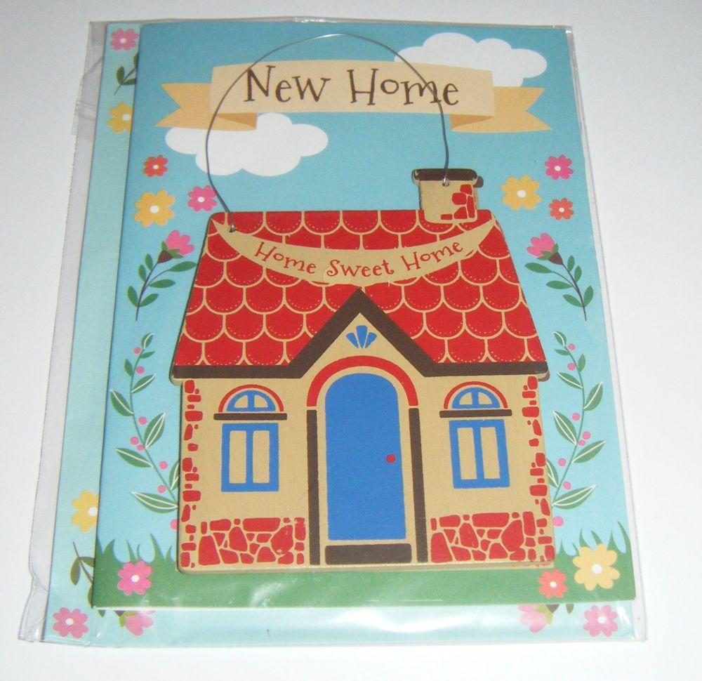 Home Sweet Home - Wooden Hanger Greeting Card Blank Inside