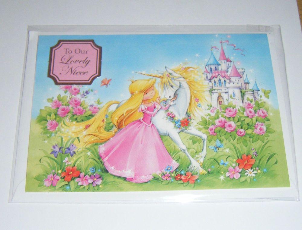Niece Fairytale - Greeting Card Blank Inside