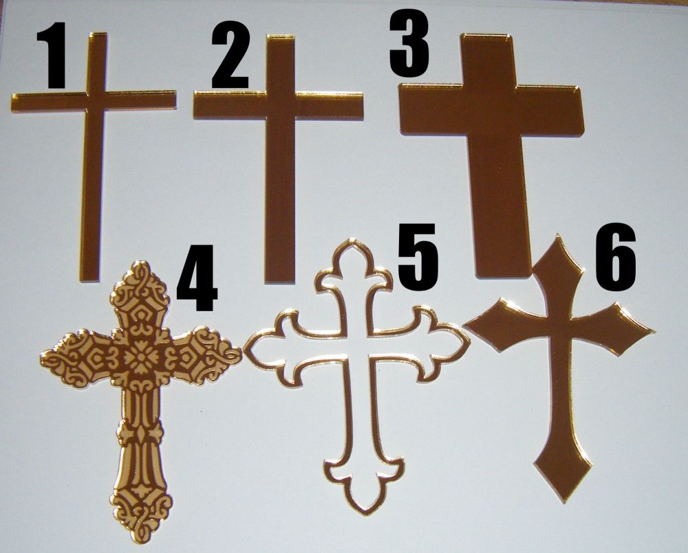 ..Mini Cross for Side or Top of Cake  Charm or Topper