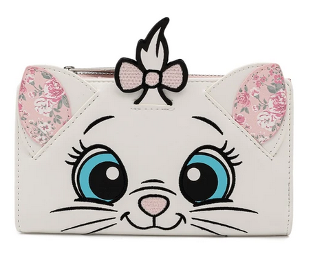 Disney Marie Floral Face Loungefly Purse Wallet