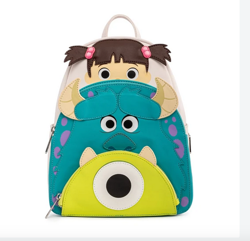 Boo Mike Sully Cosplay Monsters Inc Loungefly Pixar Mini Backpack Bag