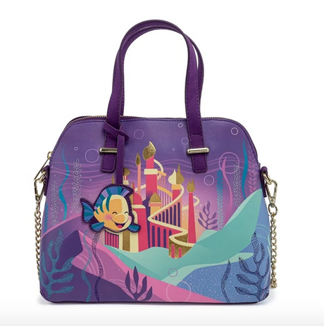 Ariel Castle Little Mermaid Disney Loungefly Crossbody Bag
