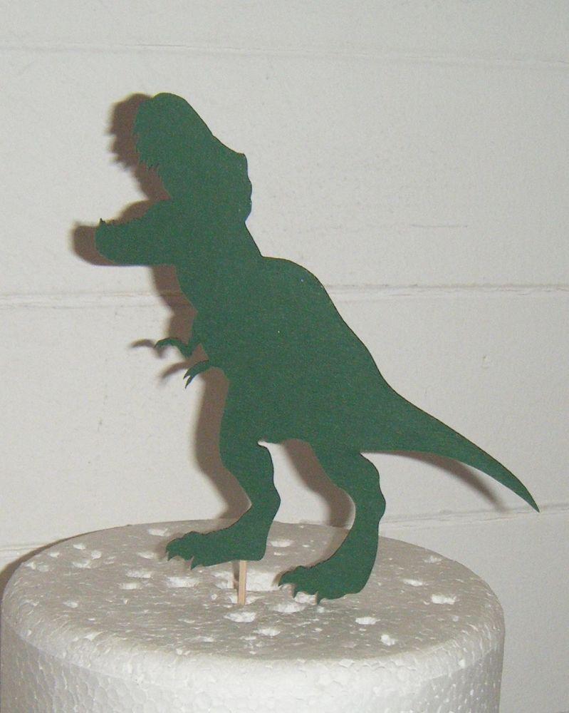 Dinosaur Silhouette Cake Topper