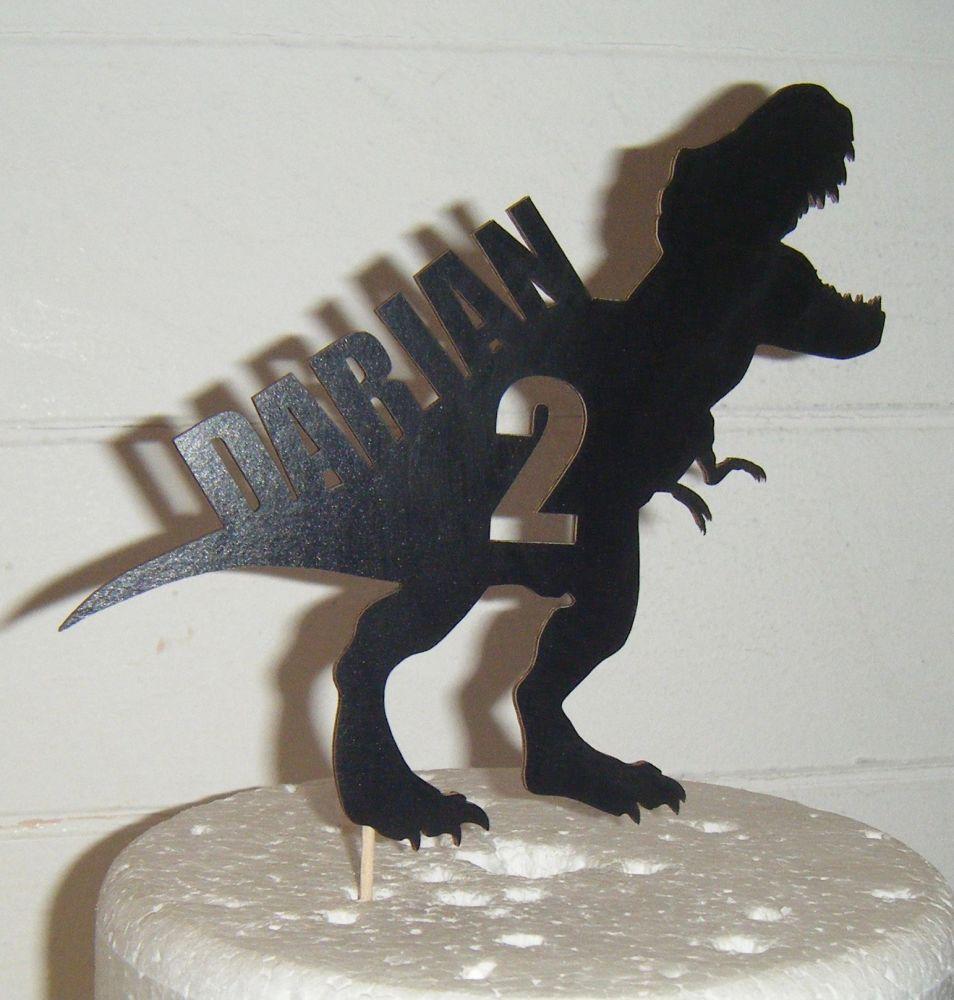 Dinosaur T-Rex Name & Age Topper Custom Made