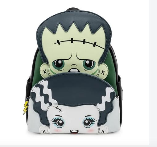 Universal Monsters Frankenstein  & Bride of Frankenstein Cosplay Mini Backpack Loungefly Bag