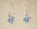 Antique Tibetan Silver Alice in wonderland Rabbit Earrings