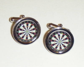 Dartboard Darts Player Fun Cufflinks