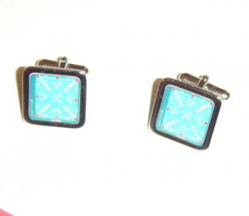 Scrabble board Game Square Cufflinks