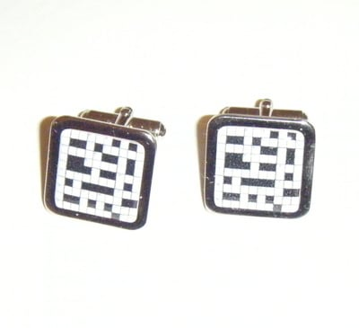 Crossword Puzzle Square Cufflinks