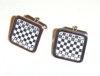 Chess Board Square Cufflinks