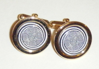 Optical Illusion Spiral Cufflinks