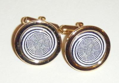 Optical Illusion Spiral Cufflinks