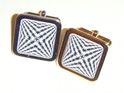 Square Optical Illusion Fun Cufflinks