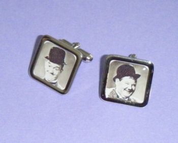 Laurel and Hardy Picture mens Cufflinks