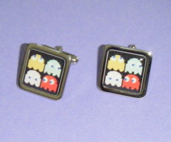Pacman Ghosts Square Fun Cufflinks