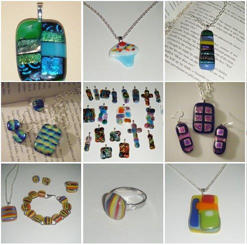 Funky Fused Glass Jewellery