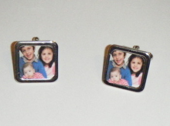 Custom Made Square Personalised Photo Cufflinks