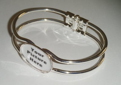 Custom Made Personalised Photo Bangle
